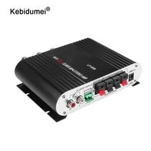 Kebidumei mini amplificador estéreo hi fi para lvpin 12v 200w mp3 rádio do carro amplificador de potência de áudio lp 838 2.1ch para baixo super casa