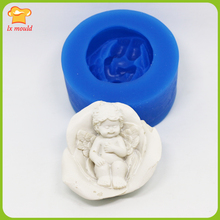 Petals angel silicone soap moldsoap candle DIY model Silicone mold soaps tools