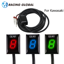 ALCON-Racing Gear Display Indicator LED Ecu Plug Mount 1-6 Speed Waterproof For Kawasaki Z800 Z300 ER6N ER6F Ninja300 Ninja650