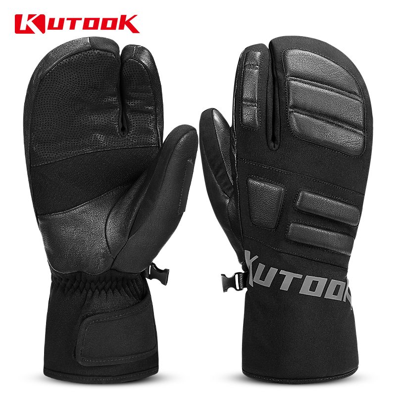 KUTOOK Waterproof Ski Gloves Men Winter Thermal Snowboard Gloves Windproof Women Snow Board Snowmobile Gloves Ski Accessories