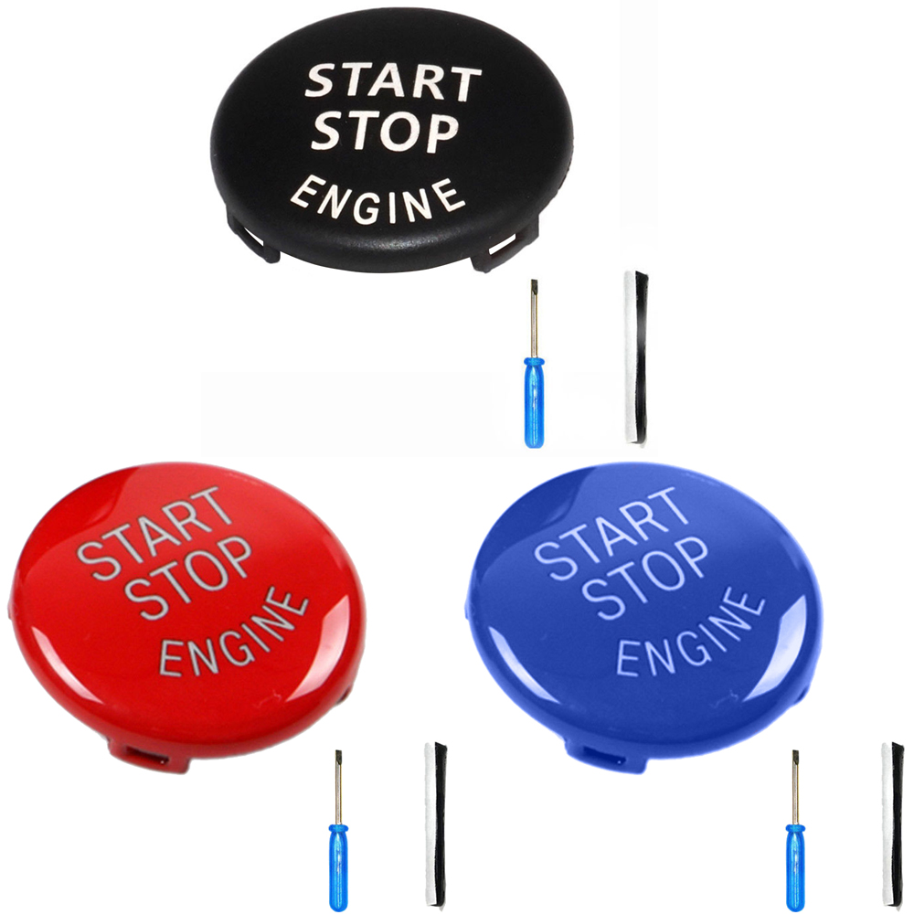 Car Auto <font><b>Engine</b></font> Start Stop Switch Button <font><b>Cover</b></font> 3*3CM For <font><b>BMW</b></font> E60 E91 <font><b>E90</b></font> E92 E93 image