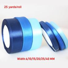 25Yards/Roll Silk Satin Ribbon Wedding Christmas Party DIY Bow Craft Sewing Ribbons Gifts Wrap Tape Accessories 6/15/20/25/40mm