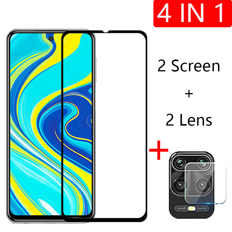 4-in-1 Camera + Tempered Glass For Xiaomi Redmi Note 9s Note 9 Pro Screen Protector Glass On Note 9 Pro Max protective Glass(China)