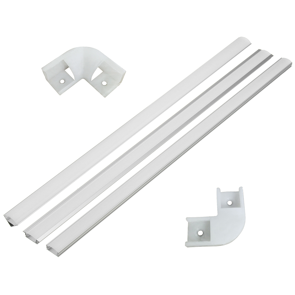 100cm U V YW Aluminium Channel Holder Corner Connector For LED Strip Light Bar Under Cabinet Night Lamp Kitchen 1.8cm Wide