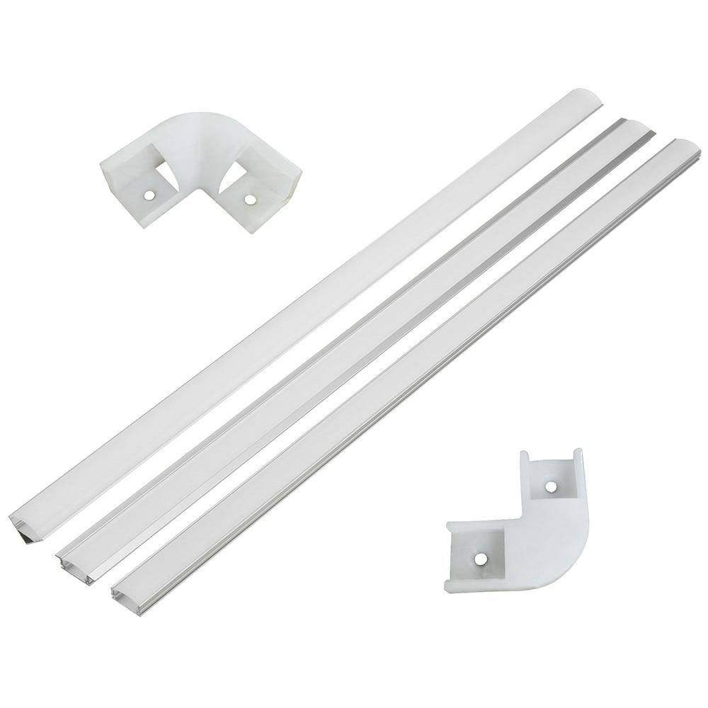 100cm U V YW Aluminium Channel Holder Corner Connector For LED Strip Light Bar Under Cabinet Night Lamp Kitchen 1.8cm Wide