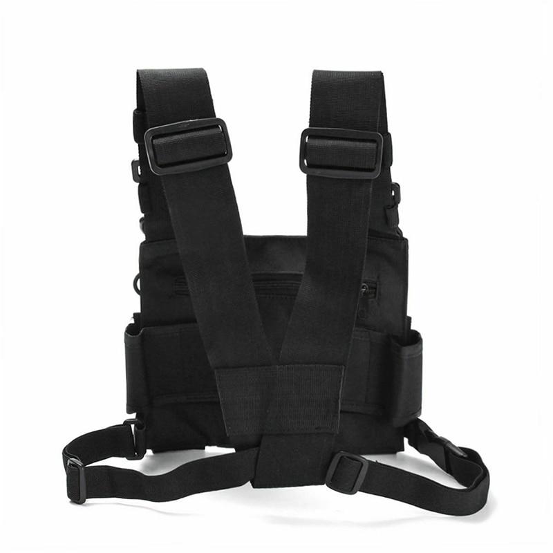 Adjustable Pocket Pack Bag Nylon Chest Pockets Pack Bag Harness Backpack For Radio Walkie Talkie