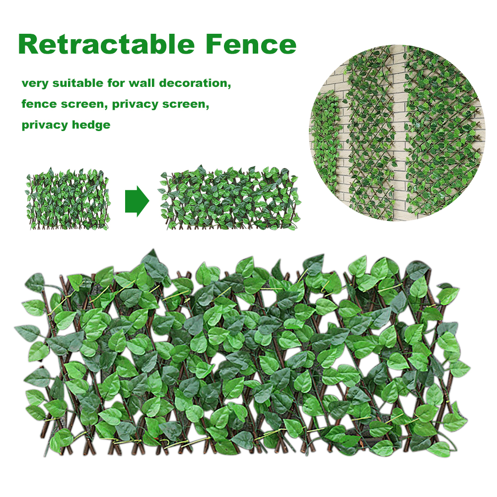 Simulation Artificial Garden Fence Eco-Friendly Stretchable Decoration Green Wall for Home Balcony Super Market Restaurant Café