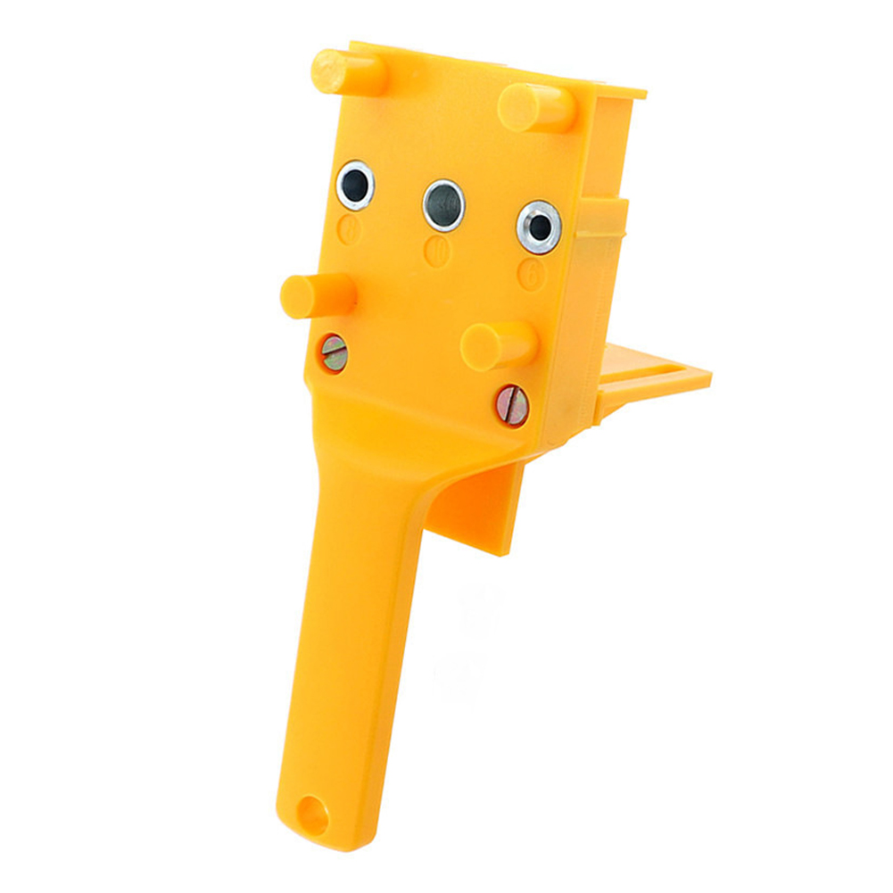 Accurate Woodworking Tool Drill Locator Easy To Use Mini Plastic 3 Pins With Baffle Quick Dowel Joints Doweling Jig Orange