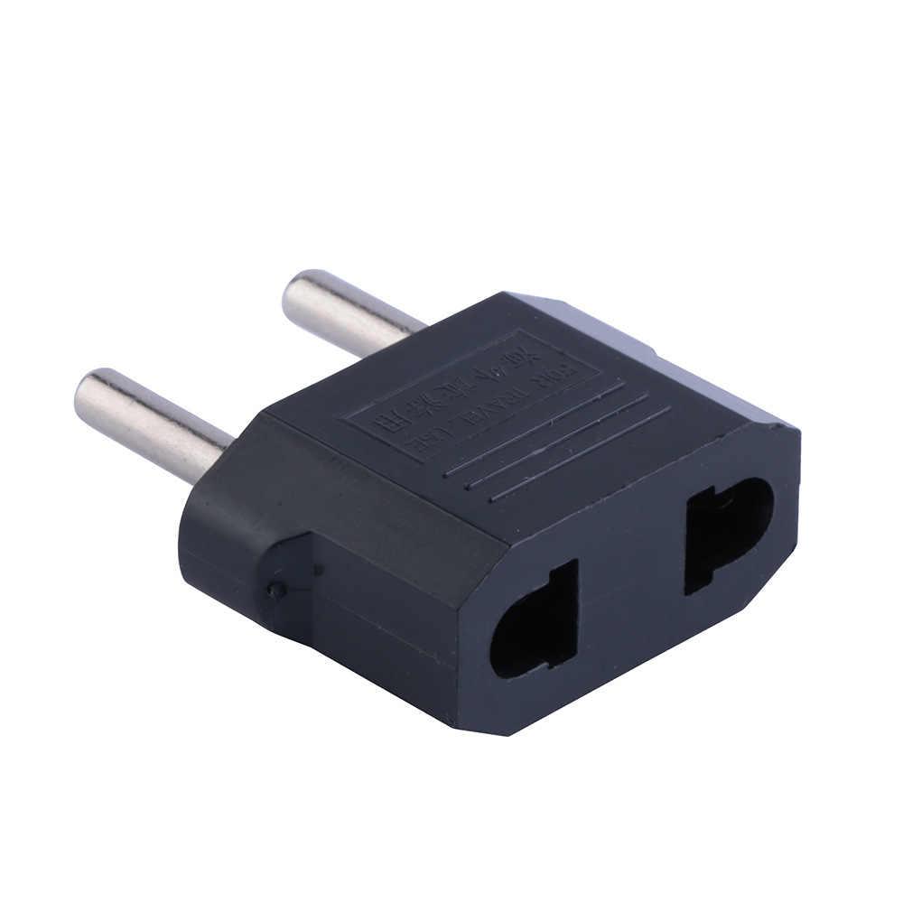 1 pièces 220 V/5A adaptateur ue Portable pratique double usage prise couleur noire transformer prise adaptateur