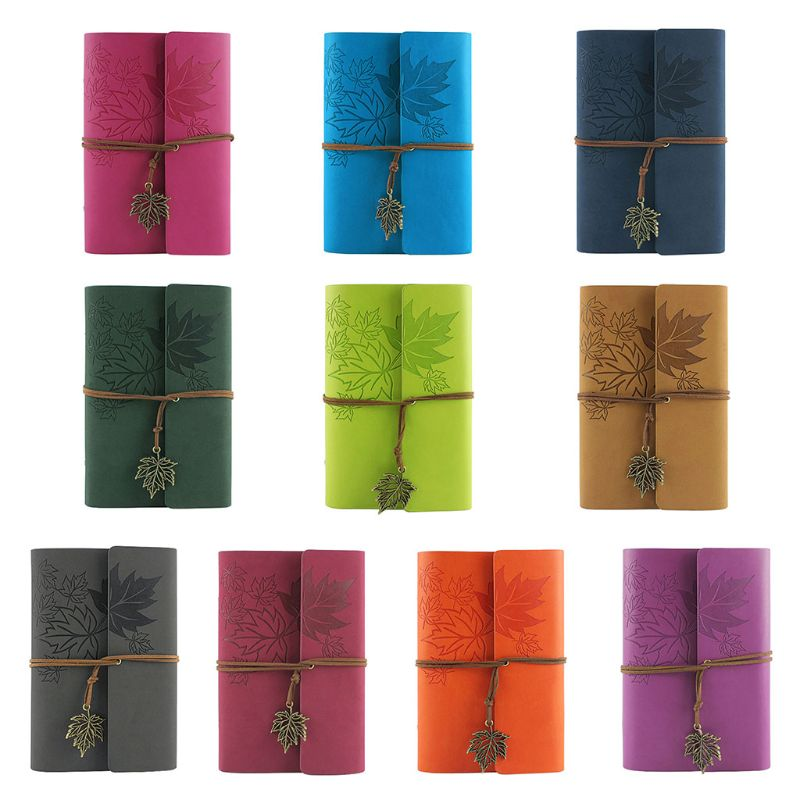 Leather Writing Journal Notebook, Classic Spiral Bound Notebook Refillable Diary
