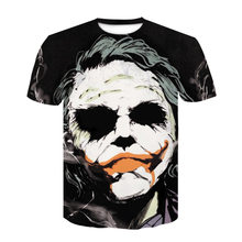 Summer Clothes New European and American Trend Movie Characters 3D Digital Print Burst T-shirt Loose-fitting Short Sleeves