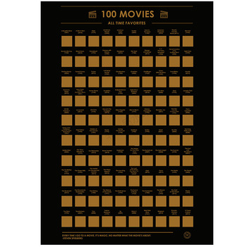 Scratch Off Poster 100 Must-See Movies Top Films of All Time Bucket List(60X42cm) 1