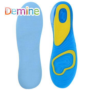 Silicone Gel Sports insoles Running Massage Pain Relief Support Shoes Insoles Insert Pads Cushion Basketball