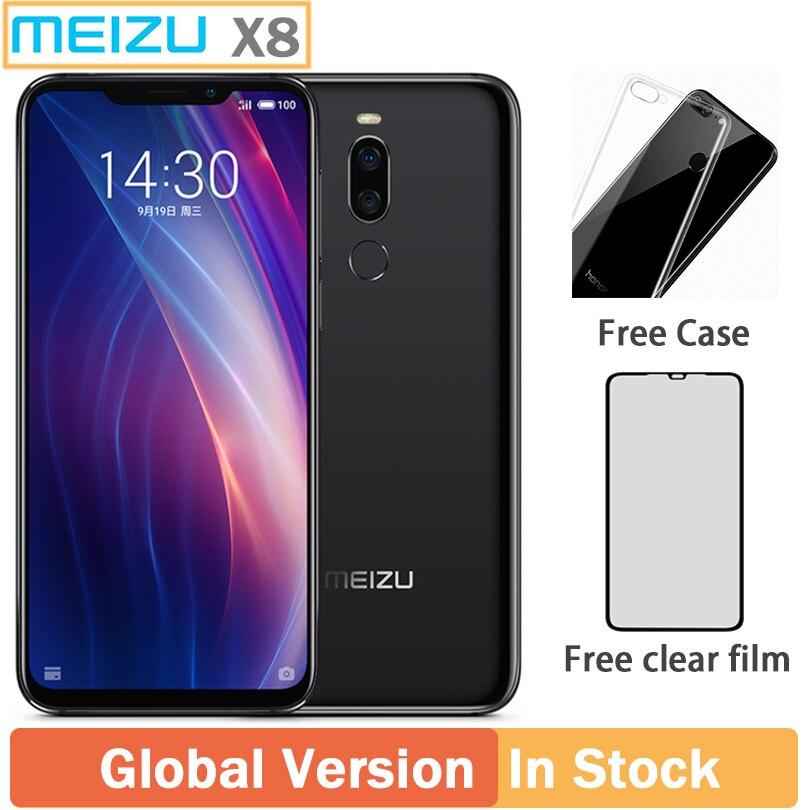 Original Meizu X8 6G Snapdragon 710 Fingerprint 4G LTE Smart Phone Octa Core 6.2'' 2220 X 1080P Dual Rear Camera 3210mAh