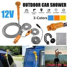 Hot 12V Universal Car Washer Shower Set Portable Electric Pump Outdoor Camping Travel Car Washer Hiking Pet Washer 2020 New