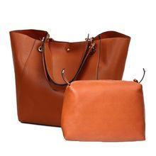 2PCS/Set PU Leather Handbags Big Women Bag High Quality Casual Female Bags Tote Shoulder Bag все цены