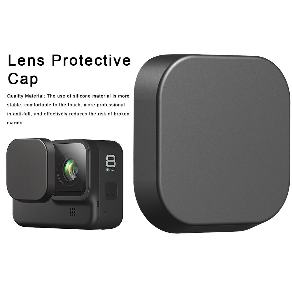 Camera Lens Cap Soft Silicon Protective Cover Case For GoPro Hero 5/6/7/8 Black Action Camera Lens Protector Ccessories