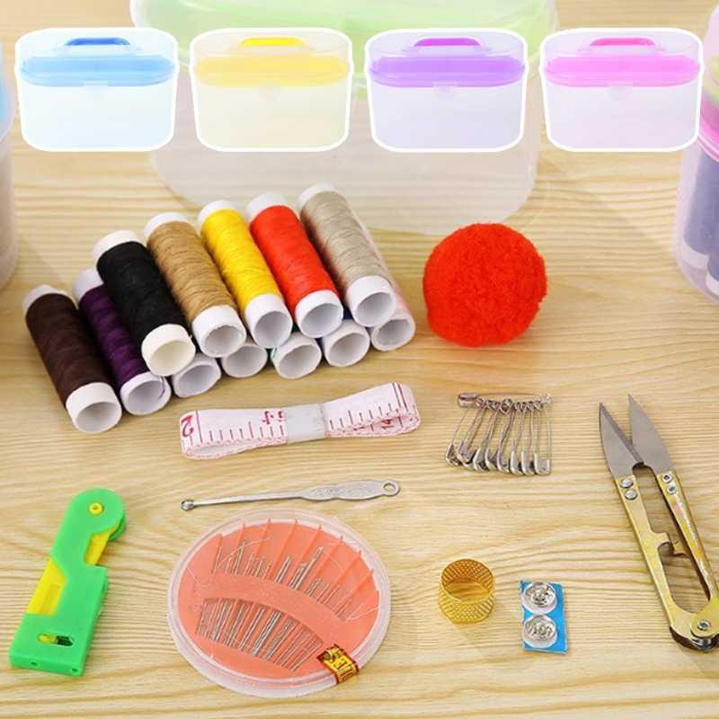 Jackallo Caja de Costura Cestas de Costura Organizador de Bordado de Costura Kit de Costura Estuche de Almacenamiento para Viajes a Casa
