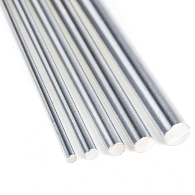 Линейный вал для 3d принтера 2 шт., 6 мм, 8 мм, 10 мм, 12 мм, 16 мм, 8 мм, 400 мм, детали 8 мм, 400 мм, цилиндрические хромированные стержни, ось
