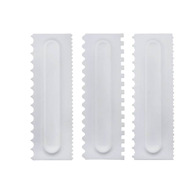Cake Smoother Scraper Cake Decorating Comb Icing Smoother Fondant Spatulas Cake Edge Smoother Cream Scraper Kitchen DIY Baking Tools for Pastry Cake Fondant Aceshop 6 Pcs Cake Scraper