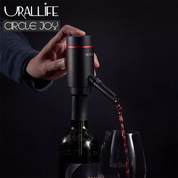 portable 2 in 1 ultrasonic electric high speed oxygenation wine decanter Urallife Circlejoy Electric Red Wine Dispenser Fast Sobering Automatic Wine Decanter Rechargeable Aerator Pourer For Kitchen Use