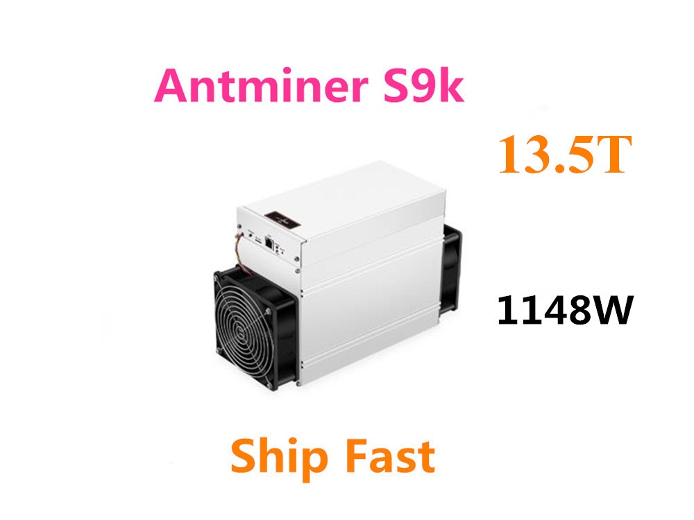 New AntMiner S9k 13.5TH/S Bitcoin BCH BTC Miner Better Than S9 13.5t 14t S9j 14.5t S9 SE S11 S15 S17 T9+ T15 T17 WhatsMiner M3 Block Chain/Miner     - title=