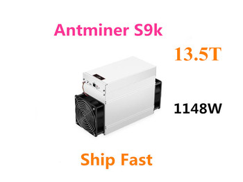 Nowy AntMiner S9k 13 5TH S Bitcoin BCH BTC górnik lepiej niż S9 13 5t 14t S9j 14 5t S9 SE S11 S15 S17 T9 + T15 T17 WhatsMiner M3 tanie i dobre opinie YUNHUI 10 100 1000 mbps 6 5KG 1148w Stock