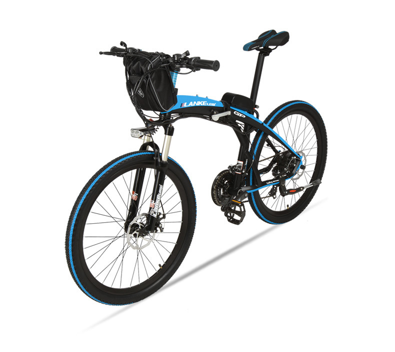 Lankeleisi 189.47 electric bicycle, folding bicycle, 26 inches, 36/48 V, 240 W, disk brake, fast folding, mountain 25