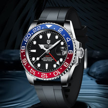 Pagani Дизайн gmt мужские 40 мм механические часы вращающийся