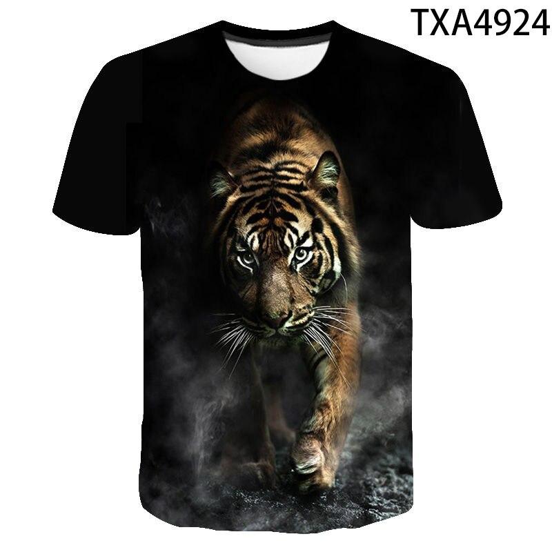 2020 New Tiger 3D T Shirt Men Women Children Summer Fashion Short Sleeve Printed Animal T-Shirt Cool Tops Tees Boy Girl Clothing