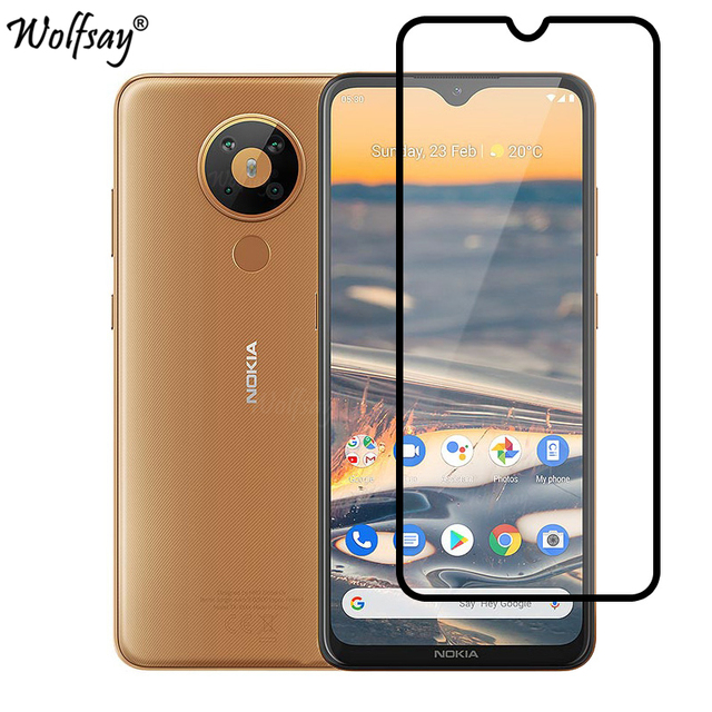 Full Cover Whole Glue Tempered Glass For Nokia 5.3 Screen Protector For Nokia 5.3 Camera Glass For Nokia 5.3 Glass Nokia3.4 5.4 2