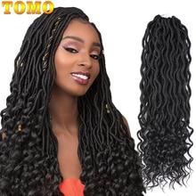 TOMO богемные кудрявые вязанные косы искусственные локоны в стиле Crochet волосы 18 дюймов 24 пряди Омбре косички для наращивания синтетические дреды волосы