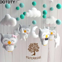 Baby Crib Holder Rattles Bracket Set Clockwork Music Box DIY Bed Bell Material Package Toy Pregnant Mom Handmade Toys For Baby baby rattles bracket set diy hanging baby crib mobile bed bell toy rotary holder arm bracket with clockwork movement music box