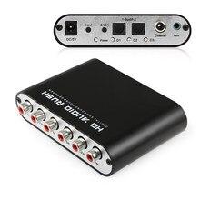 Convertidor Digital-analógico AC3 DTS Dolby amplificador con sonido Surround óptico SPDIF 3,5 AUX Coaxial 6 RCA de Audio HD de Rush 5,1 decodificador