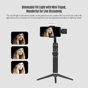 Image 3 - Sıcak 3C AFI V5 taşınabilir 3 eksenli el Gimbal cep telefonu Video sabitleyici ile kısılabilir doldurun işık için 6 inç Smartpho