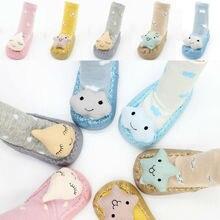 Милые Нескользящие носки для обуви для малышей; Теплая обувь с рисунком для малышей; Нескользящие тапочки; носки