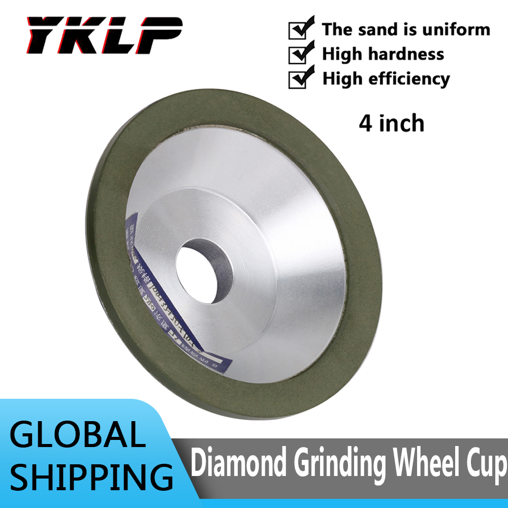 75mm/100mm/125mm/150mm Resin Diamond Grinding Wheel Cup for Carbide Metal Angle  Grinder Tool Inner Bore 20mm-32mm
