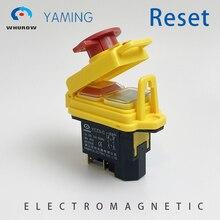 Кнопка электромагнитный переключатель моментальная Перезагрузка Тип Пресс Защитная крышка Кнопка аварийной остановки 5 Pins 12A 230V YCZ3-C