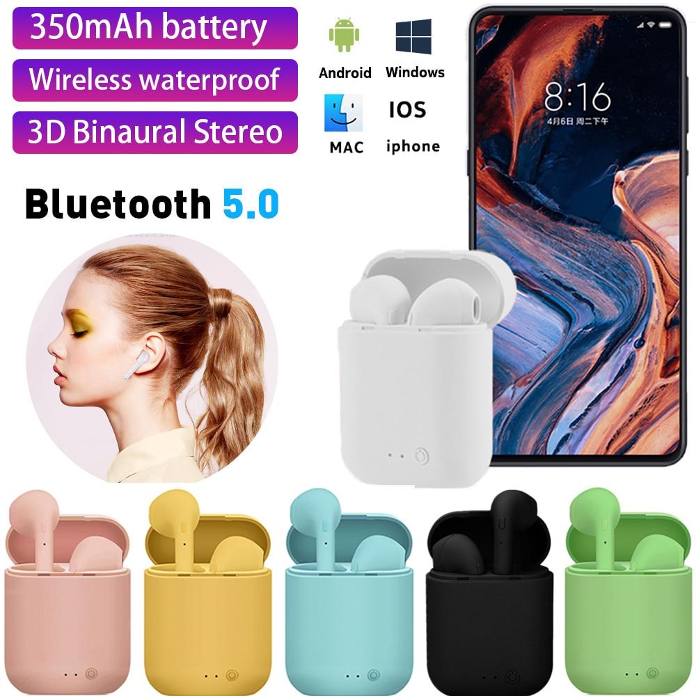 Мини-2 Наушники-вкладыши TWS Беспроводные наушники с Bluetooth гарнитурой 5,0 спортивные наушники гарнитура с микрофоном для iPhone, Samsung, HUAWEI, Xiaomi MI