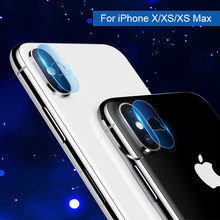 2Pcs Back Camera Lens Tempered Glass for iPhone X Protector For iPhone XS Max camera protector HD Clear AR Film For iPhone XS(China)