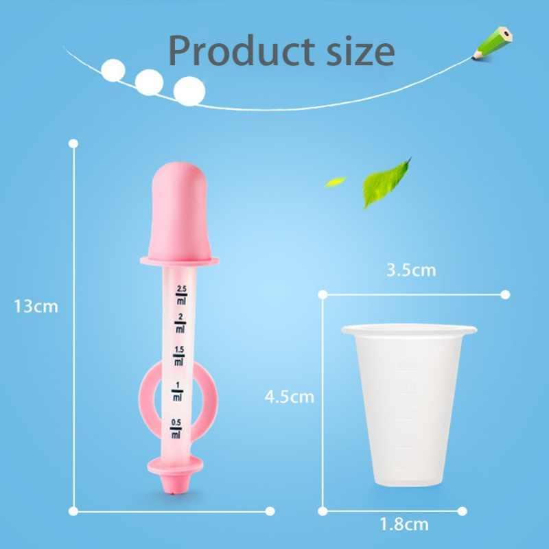 3 uds pipeta de silicona gotero de alimentos líquido de plástico para alimentación de bebés medicina cuentagotas cuchara Burette utensilios para niños gotero médico