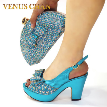 New Arrival Italian Shoe and Bag Set for Party In Women Bags To Match Italy Shoes Woman High Heel Pumps - discount item  15% OFF Women's Shoes