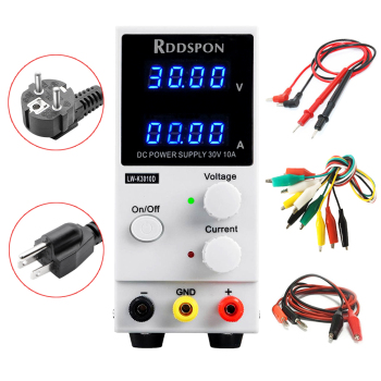 30V 10A Mini Adjustable DC Power Supply K3010D 4 Digit Display Switch Regulator Laboratory Power Supply For Phone Laptop Repair adjustable laboratory power supply digital programmable switching mobile phone repair yihua 3005d 30v 5a program controlled