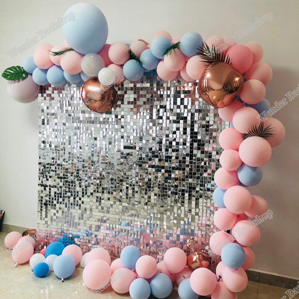 Wedding Party Backdrop 30cmx30cm Sliver Shimmer Sequin Wall Window Background Wall Decoration Party Backdrops Aliexpress