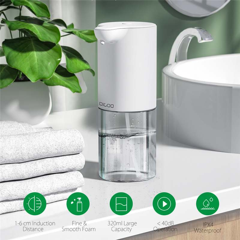 320ml Automatic Foam Soap Dispenser Hand Washing Machine Intelligent IPX4 Infrared Sensor Touchless Liquid Foam Hand Washer
