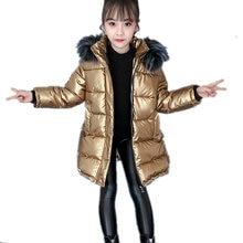 Coat Outerwear Jacket Hoodies Fur Winter Parka Girl Luxury-Cotton-Padded Waterproof Boys