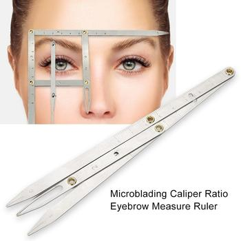 Tattoo Three-point Positioning Eyebrow Balance Ruler for Semi Permanent Makeup Eyebrow Stencils