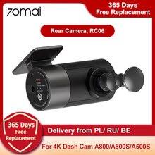 Tylna kamera 70mai RC06 Full HD 1920x1080 dla 70mai A800, A800S 4K Ultra HD Dual-Vision Camera i A500S 1944P 2.7k kamera samochodowa