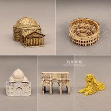 Model-Toys Castle Pyramid Figurine Miniature Architecture Pantheon Ancient Egyptian Arena