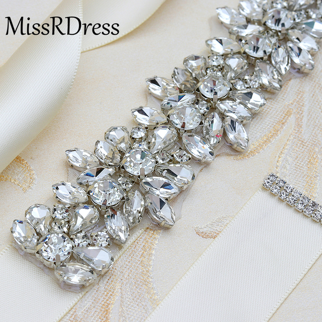 MissRDress Wedding Women Rhinestones Handmade Belt Wedding Evening Dress Belt Accessories Marriage Bridal Sashes Girlfriend Belt 3